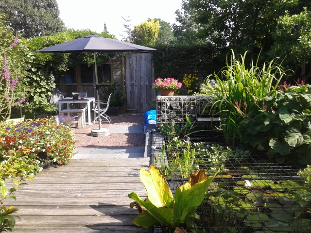 Foto van de tuinzijde van de B&B